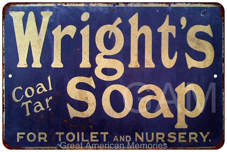 Wright's Coal Tar Soap Vintage Look Reproduction 8x12 Metal Sign 8120644