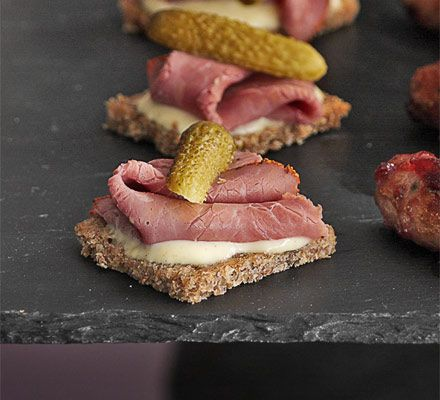 rye toast canapes - Google Search