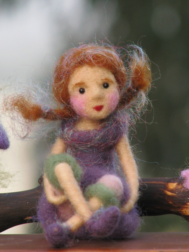 Needle felted forest fairy waldorf inspired. $105.00, via Etsy.