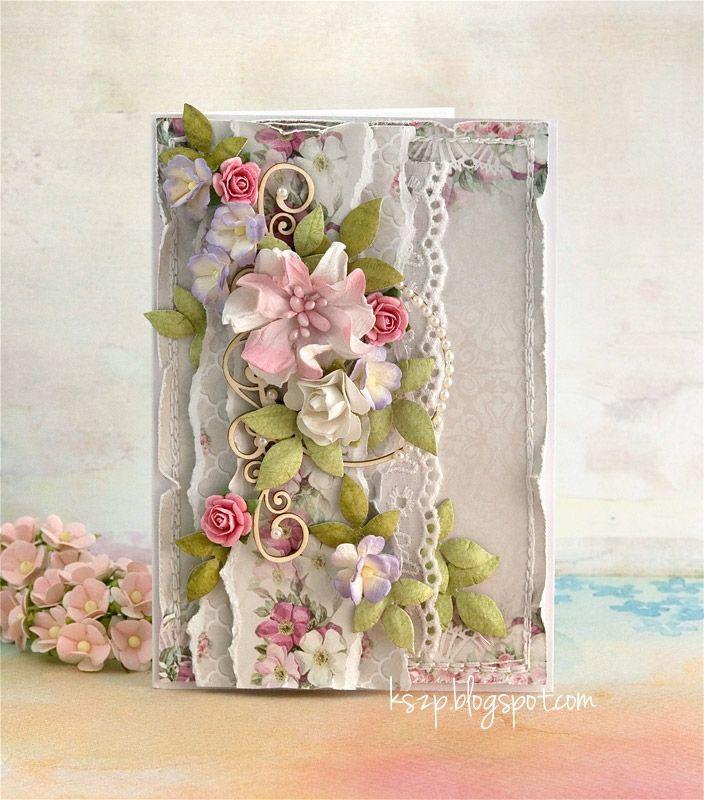 Цветок для открытки скрапбукинг, открытку днем рождения