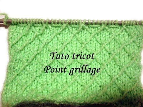 ▶ TUTO TRICOT APPRENDRE A TRICOTER LE POINT PAPILLON ; POINT DE TRICOT FANTAISIE FACILE !!!!!!!! - YouTube