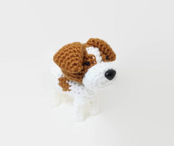 Jack Russell Terrier Amigurumi Dog Hand made Crochet by Inugurumi