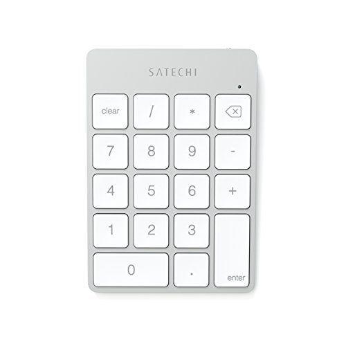 Satechi Pavé Numérique Fin Sans fil Bluetooth Rechargeable (Argent): Le pavé numérique Sans Fil est l'accessoire parfait pour compléter…
