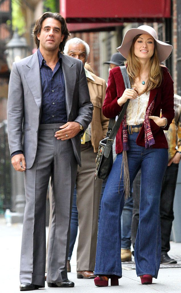 Bobby Cannavale & Olivia Wilde from The Big Picture: Today's Hot Pics  Nice threads! The co-stars film a scene in New York City for their upcoming '70s TV series Vinyl.