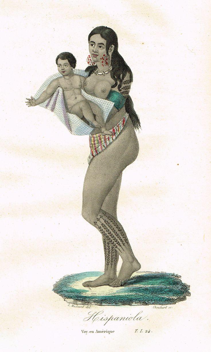 Hispaniola - Voyage en Amérique - Tome I page 24 - Histoire pittoresque des voyages par L.-E. Hatin - 1844 - MAS Estampes Anciennes - Antique Prints