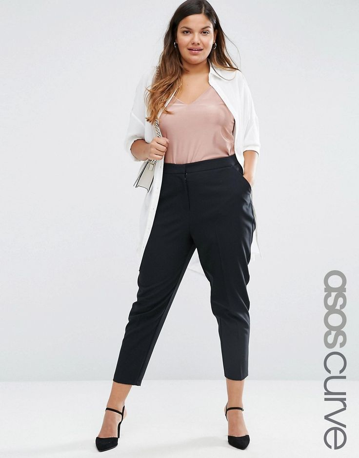 Image 1 of ASOS CURVE Skinny Fit Ankle Grazer Trouser
