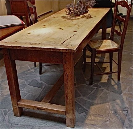 Antique French farmers table, about 1900