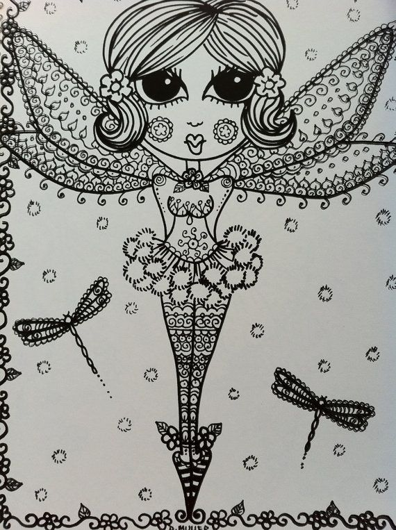 Cute Little Flower Fairies CoLoRiNg Book for you by ChubbyMermaid, $12.00