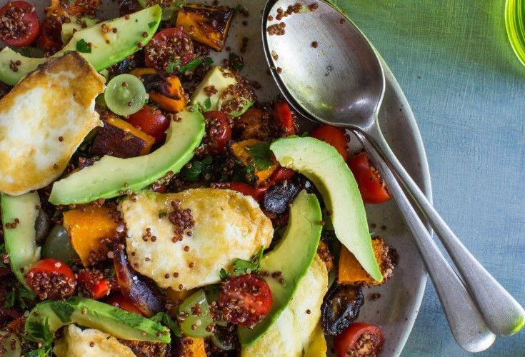 Avocado, Pumpkin and Haloumi Quinoa Salad - Nadia Lim