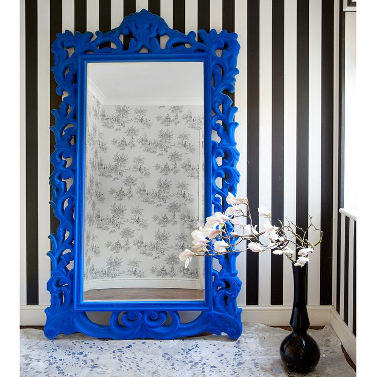 Flocked Isabelle Full Length Mirror French Bedroom Company
