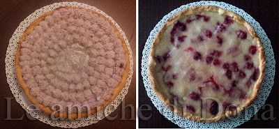 Le amiche di Dona - Appunti di cucina: Crostata di lamponi e cocco con pasta frolla e cre...