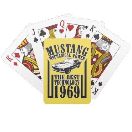 Mustang mechanical power playing cards - fun gifts funny diy customize personal