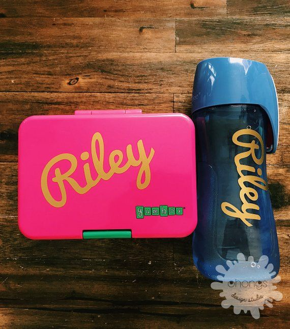 Personalized Name Set Custom Name Sticker Lunchbox Sticker Etsy Name Stickers Lunch Box School Gifts