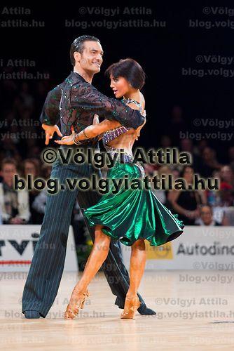 Stefano Di Filippo and Anna Melnikova from Italy perform their dance during the Latin-american World Championships held at Siemens Arena, Vilnius, Lituania. Saturday, 08. December 2007. ATTILA VOLGYI