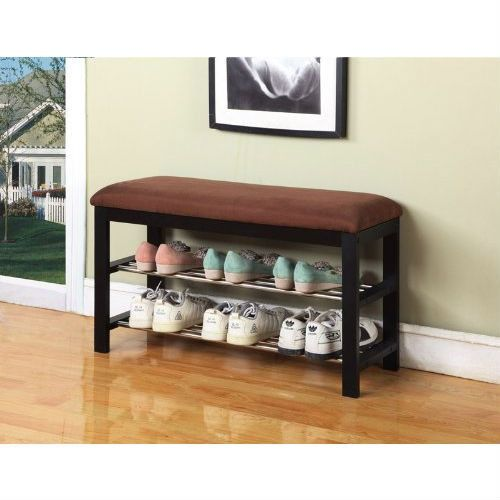 This Hallway Entry Bedroom Storage Bench Shoe Rack Organizer would be a great addition to your home. Can be used as a shoe organizer, bedroom and hall way bench with microfiber fabric. - Hallway Entry
