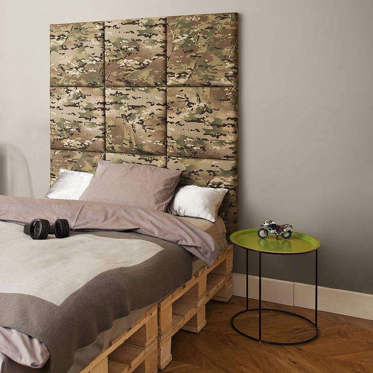 madeforbed.com, modular headboard, moro, cordura, military, design, boy's room