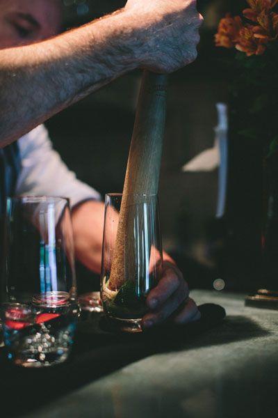 Expert bar tenders prepare fresh and seasonal cocktails