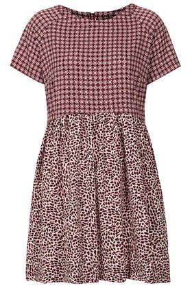 Animal Tile Mix Tunic Dress