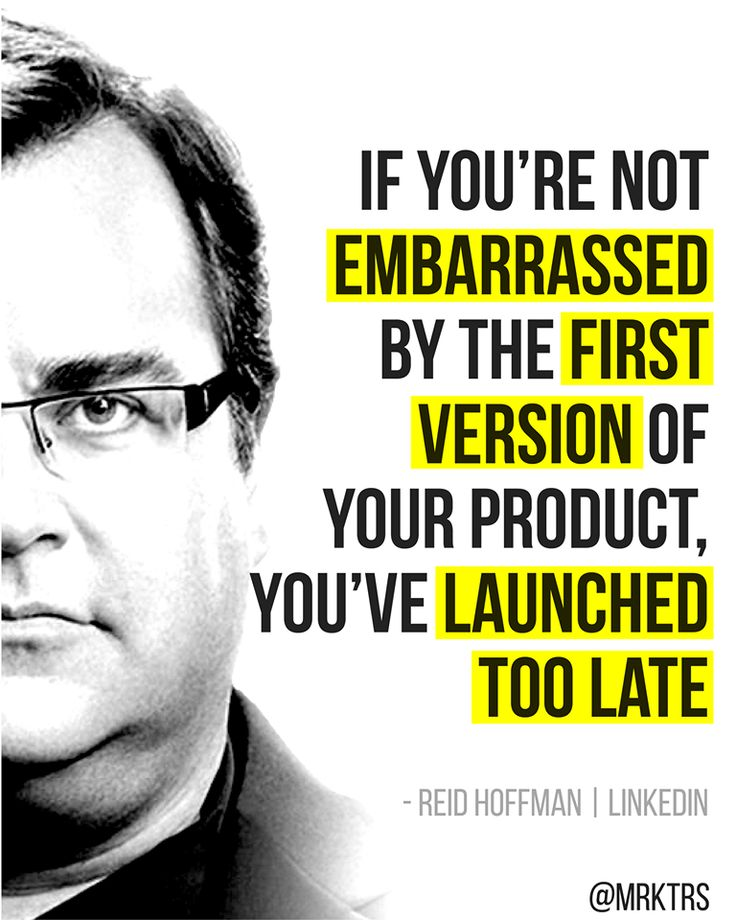 Reid Hoffman   Don't launch too late