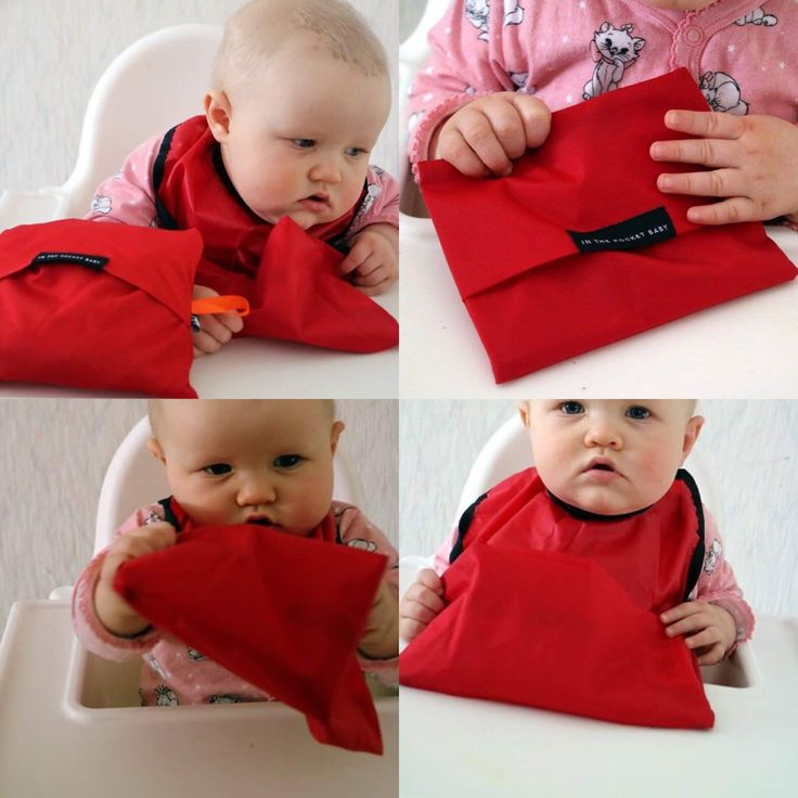 Adorable Leonora with her first Bib from IN THE POCKET BABY