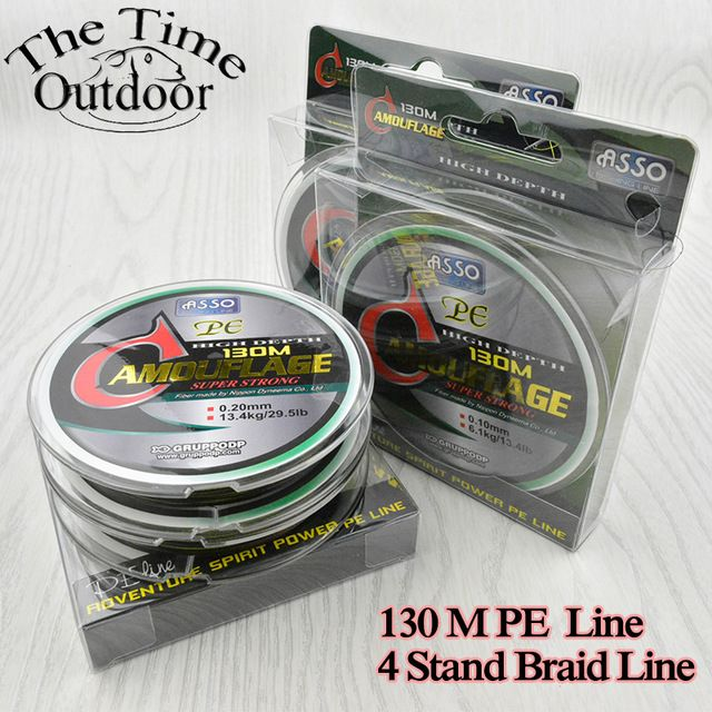 ASSO 130M Multifilament PE Braided Fishing Line Super Strong Braided Line Fishing Lines Tackle pesca