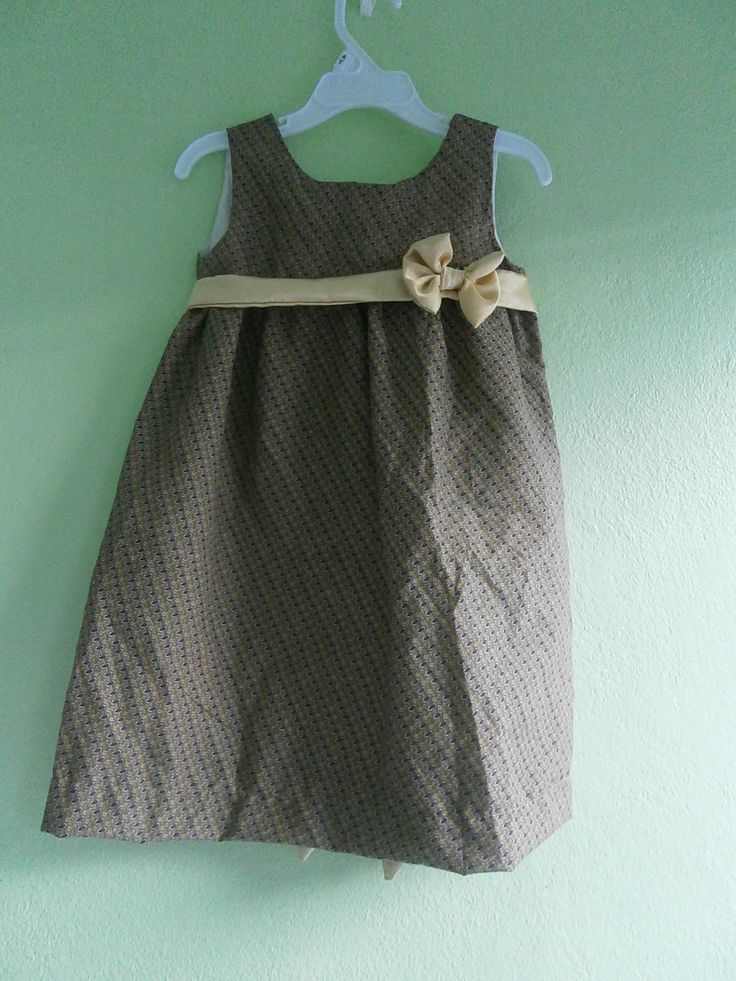 Sewing From Scrap: GIRLS DRESS TUTORIAL : CUTE SUMMER DRESS - EASY BE...