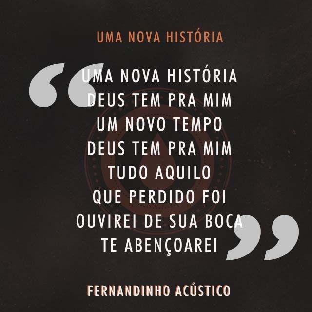Uma Nova História - Faixa do CD Fernandinho Acústico!