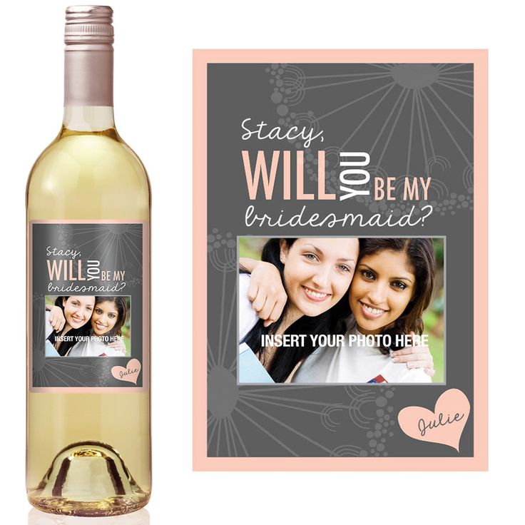 Custom Bridesmaid Proposal Gift - Bridesmaid Wine Bottle Label - Asking Bridesmaid Will You Be My Bridesmaid Gift by iCustomWine on Etsy https://www.etsy.com/listing/122639120/custom-bridesmaid-proposal-gift