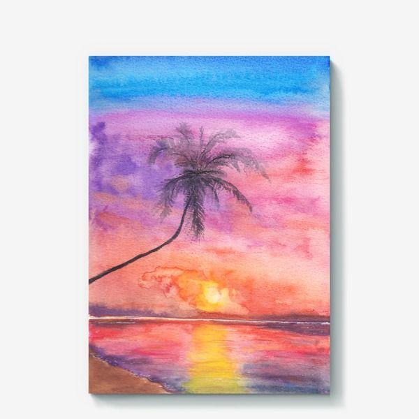 Холст Закат на океане, Автор: Ольга Кораблева, Цена: 4000 р.