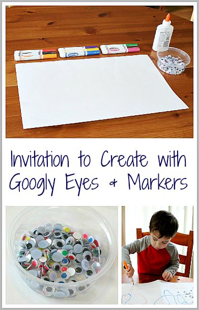 Fun and Super Easy Art! (Simple Invitation to Create with Googly Eyes & Markers from Buggy and Buddy)