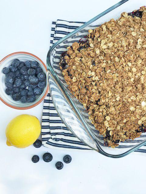 Healthy Baked Blueberry Crisp