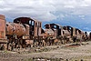 Uyuni Train Cemetery, Bolivia    One of the major tourist attractions of southwestern Bolivia is an antique train cemetery. It is located 3 km (1.9 mi) outside Uyuni and is connected to it by the old train tracks. The town served in the past as a distribution hub for the trains carrying minerals on their way to the Pacific Ocean ports.