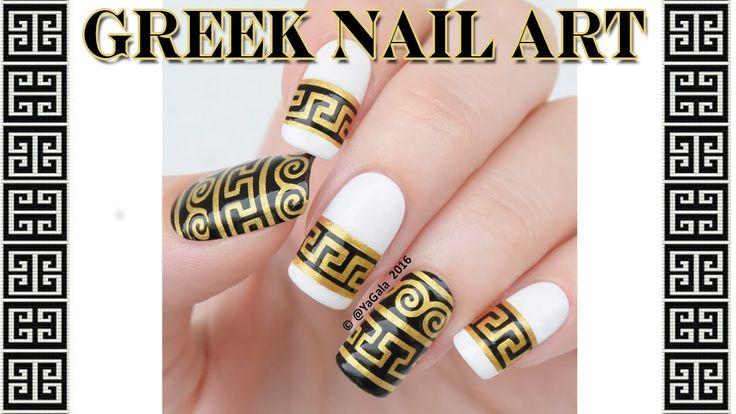 Greek nail art / Греческий дизайн ногтей