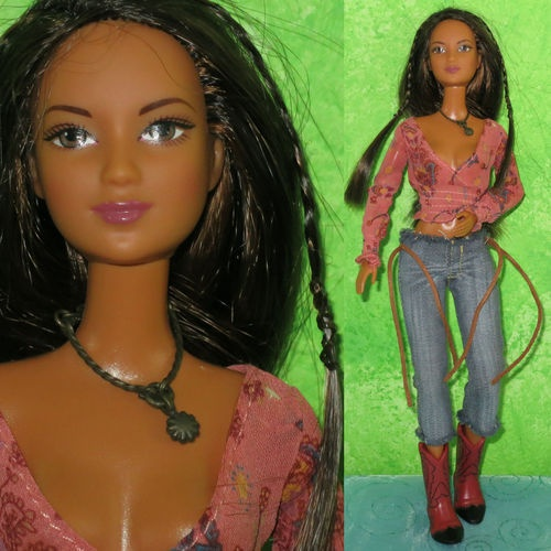 mattel barbie 11 5 fashion fever kayla cowgirl lea doll w clothes amp boots cali girl mattel