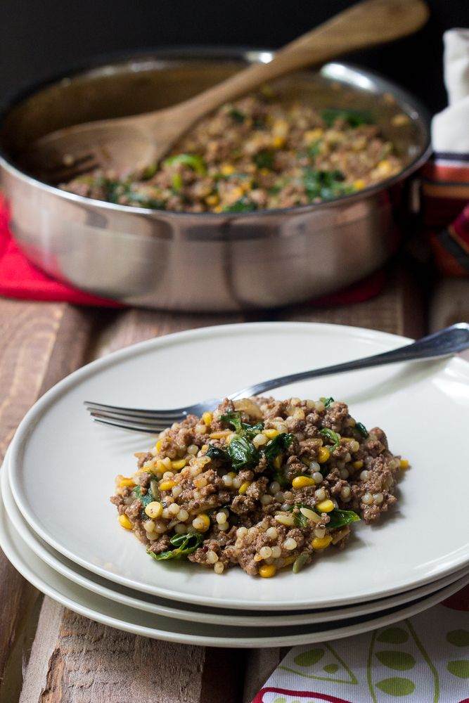 Bison One-Pot Dinner - this hearty meal cooks up quickly and is so versatile!