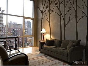 Wall Stickers Winter Trees Brown