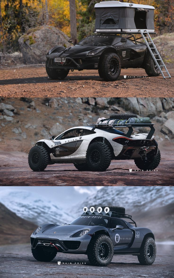 No category of cars is consistently as eye catching as supercars these rain prisk off road car concepts take the world s raciest autos and adapt them for