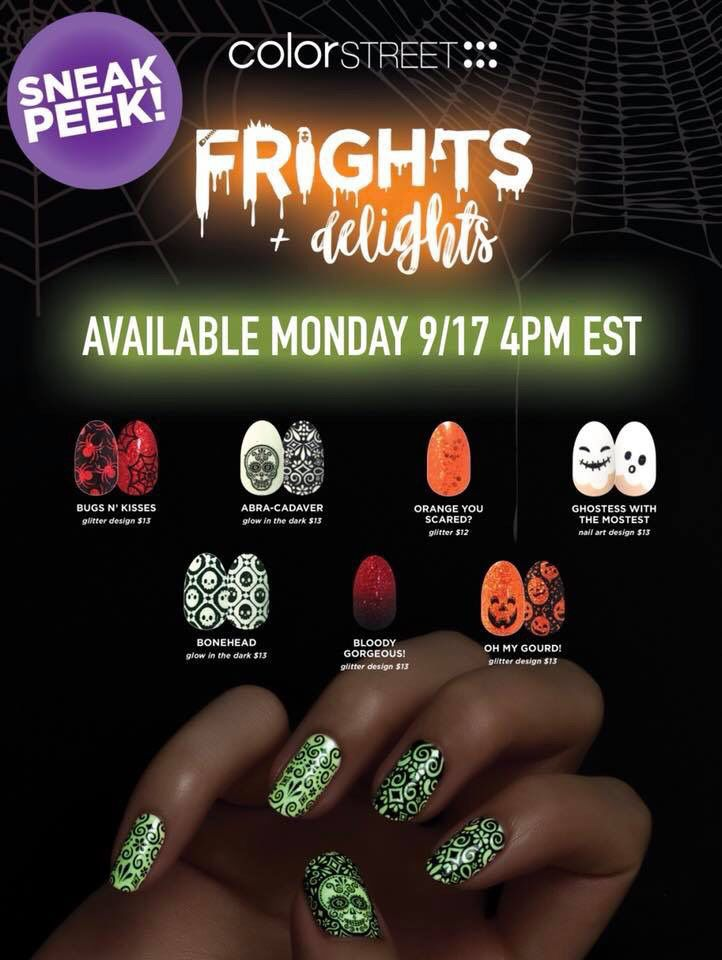 7 new Color Street Halloween designs drop on 9/17/2018 ...