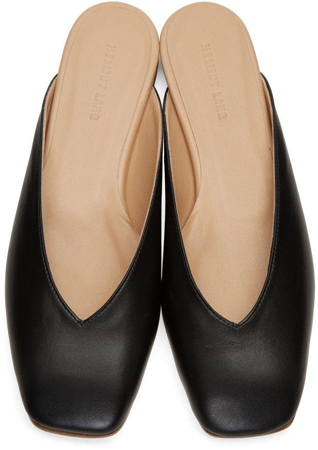 Helmut Lang - Chaussures à enfiler à bout carré noires