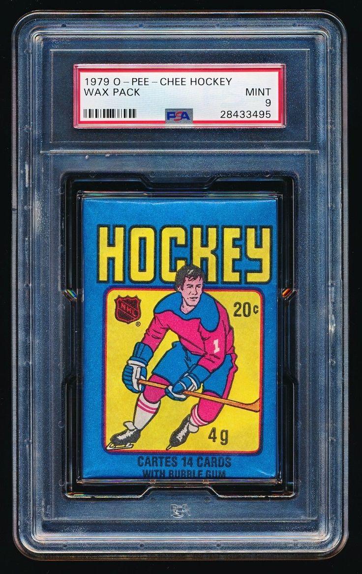 1979 opc opeechee hockey unopened wax pack psa 9