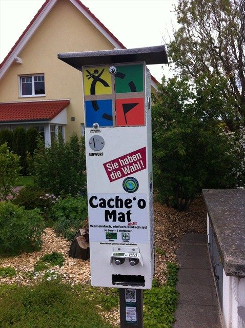 Cache 'o Mat - the geocache vending machine... Where is this?? I need to go there. awesome