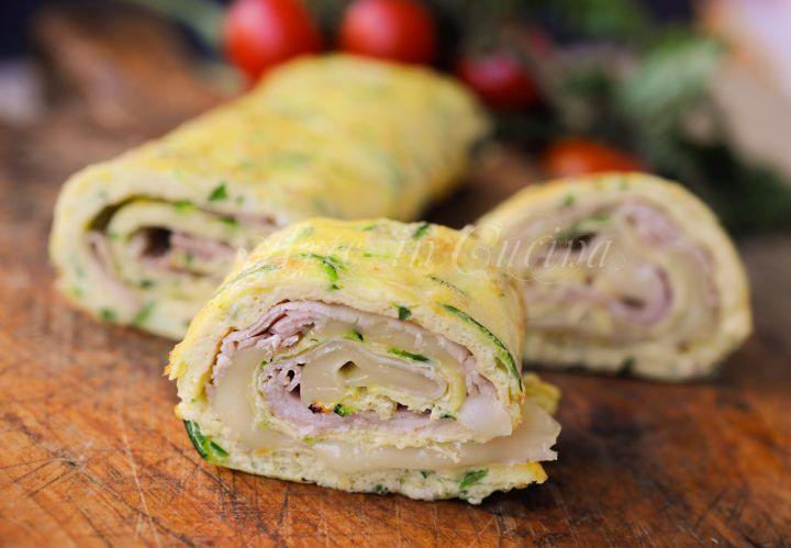 Rotolo di zucchine farcito con prosciutto e provola vickyart arte in cucina