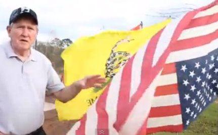 Marine Vet Protests Keystone XL Pipeline by Hanging US Flag Upside Down