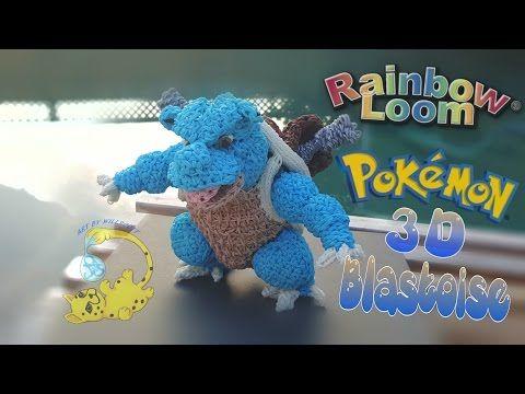 Rainbow Loom 3D Pokemon Blastoise Body (1/8) покемон Бластоиз, Tortank, Turtok, - YouTube