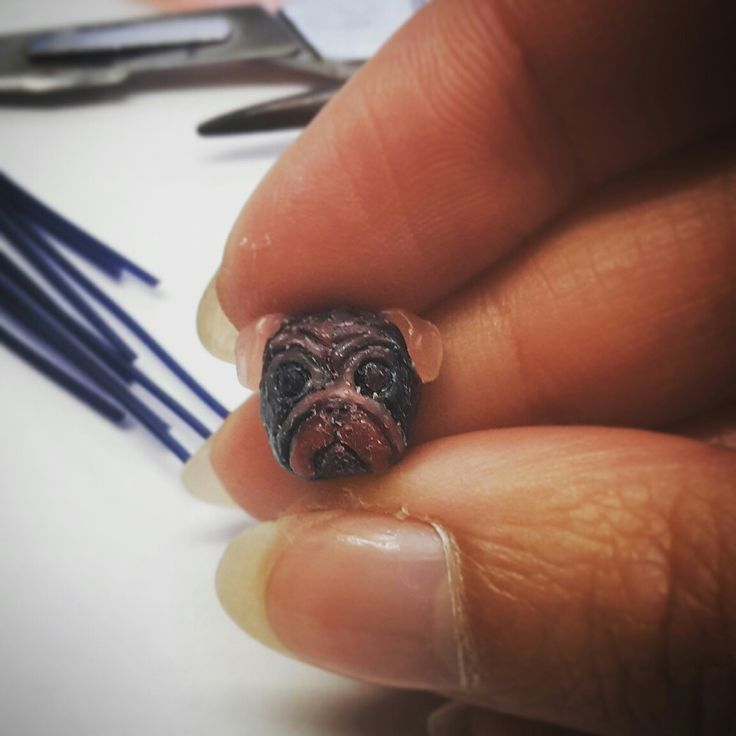 Pug head! testa di carlino - handmade in Italy