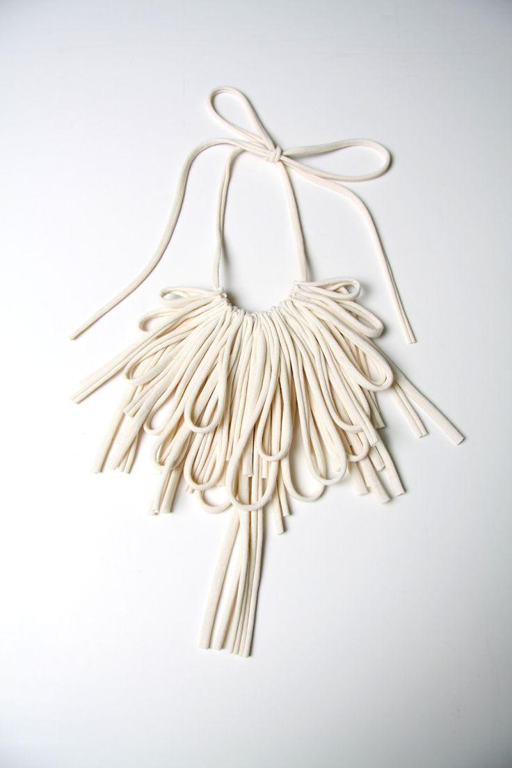 Bib Necklaces Unique Jewelry Womens Fabric Necklace African Jewellery Tribal Neckpiece Bibs Fiber Hi on Luulla