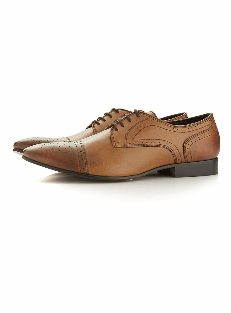 'Fabio' Tan Brogue Shoes - Smart Shoes - Shoes and Accessories - TOPMAN
