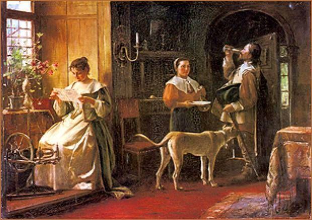 Munkácsy Mihály (1844-1900) - Levélolvasás - 1863