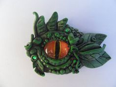 Œil de Dragon argile polymère pendentif par AjakiArts sur Etsy