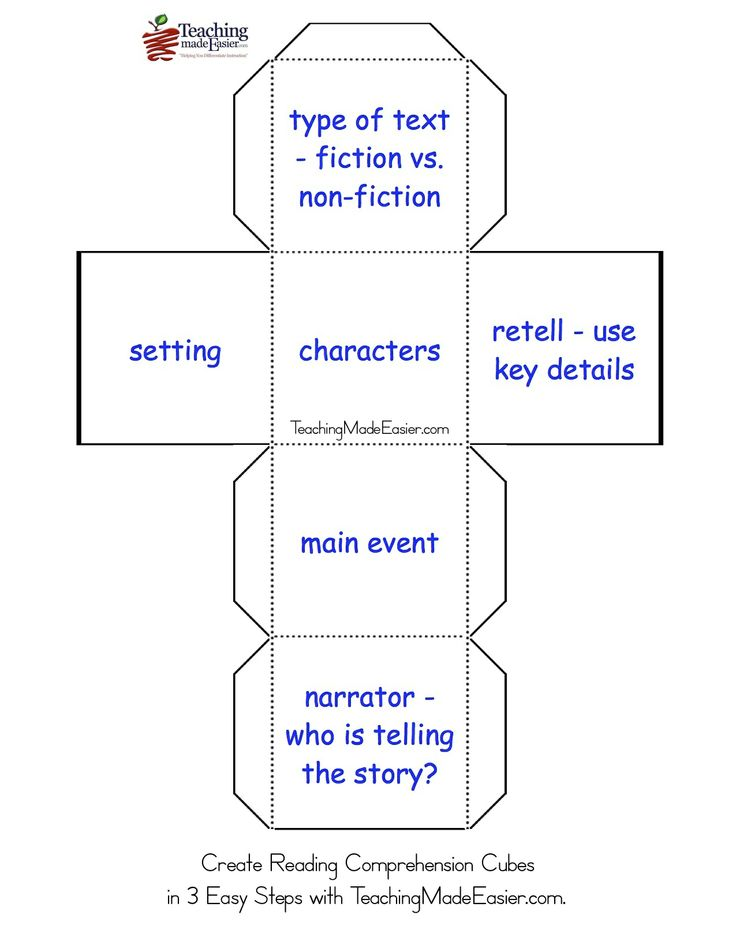 Best Reading Comprehension Cubes Images On   Reading